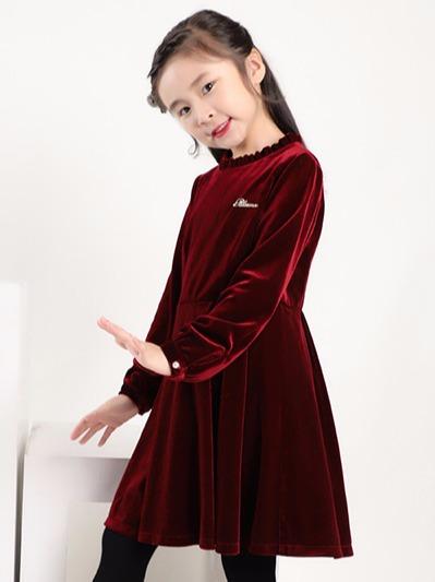 韩国绒连衣裙