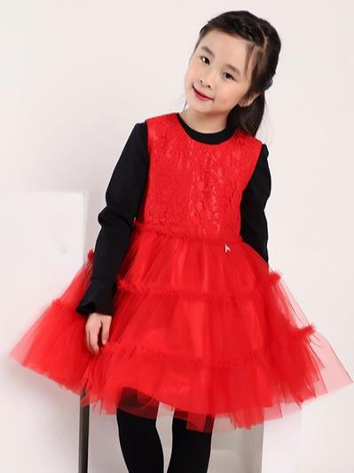 女童公主蕾丝裙
