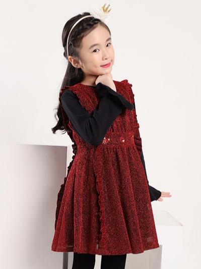 女童时尚连衣裙